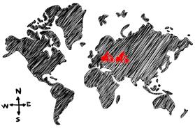 Mapa vuelta al mundo en bicicleta