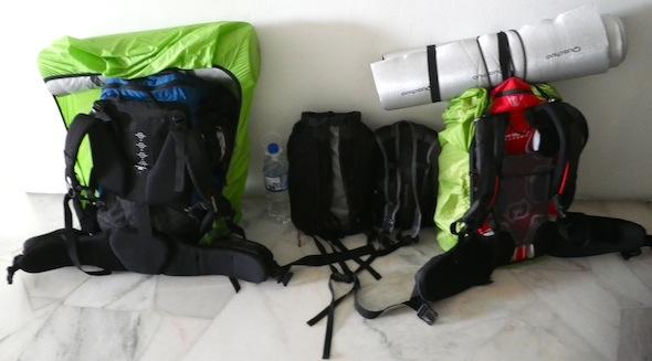 El equipaje: la mochila