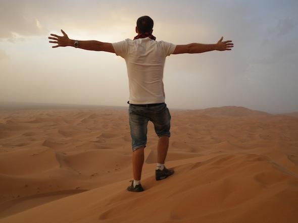 En el desierto de Marruecos