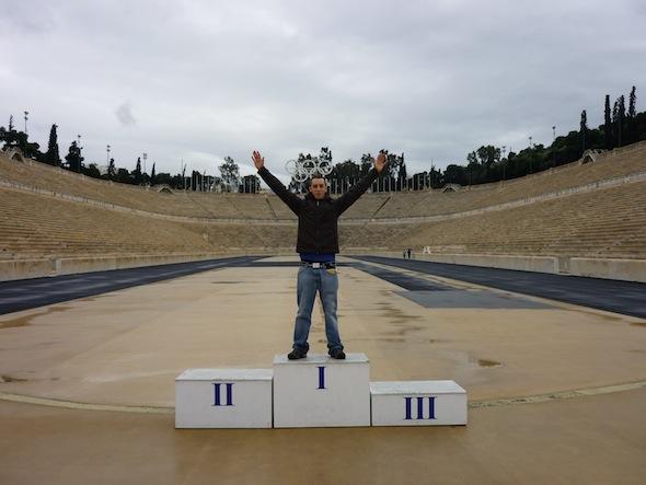 Recuerdos de carreras en Atenas
