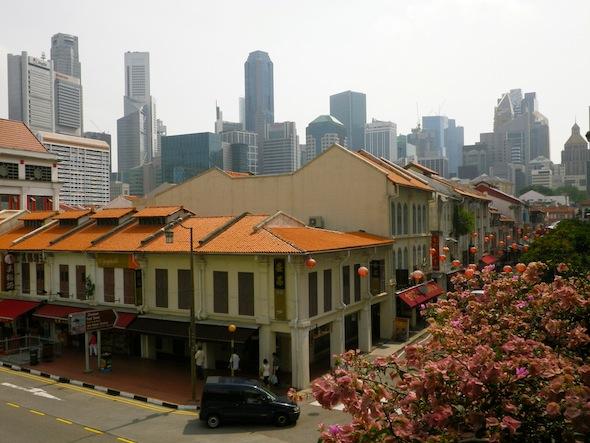 China Town y rascacielos de Singapur