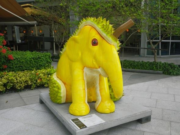 Uno de los muchos elefantes que decoran Singapur