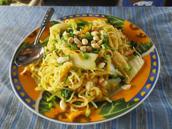 Especie de Pad Thai, al estilo Lao
