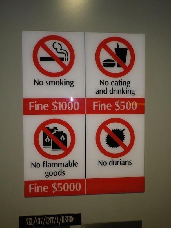 Prohibiciones en Singapur