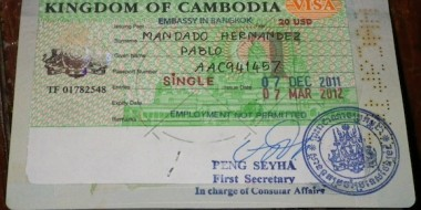 Visa para Camboya