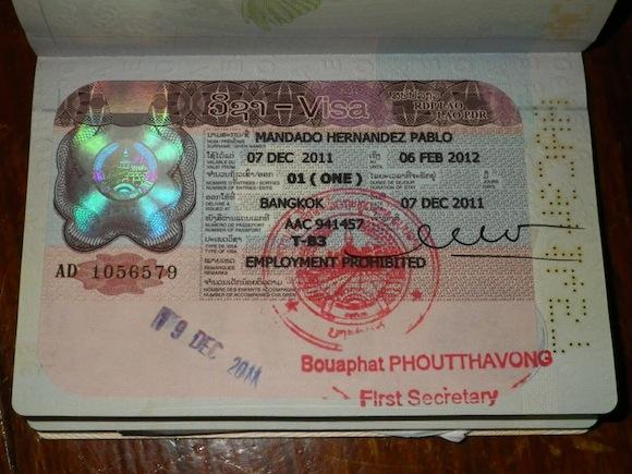 Visa para Laos