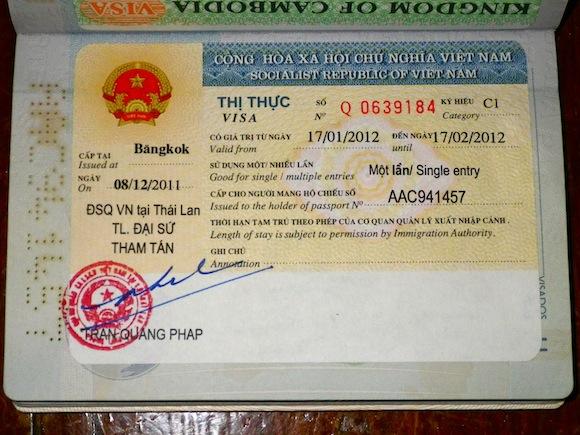 Visa para Vietnam