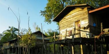 Pueblo de Ban Natane en el centro de Laos
