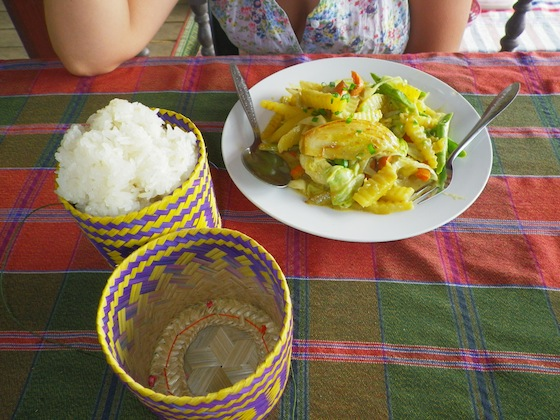 Vegetable curry en Tenabungalows