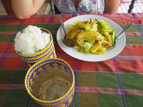 Vegetable curry en Tenabungalows
