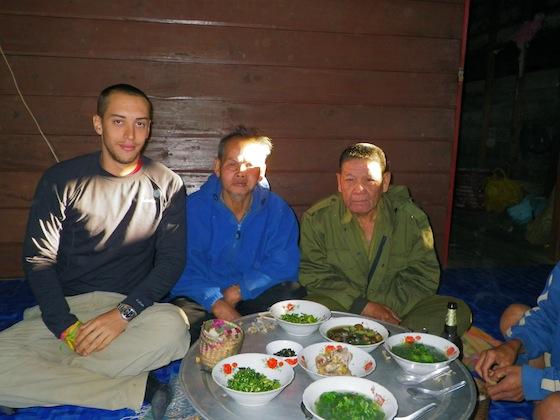 Desayunando con los ancianos