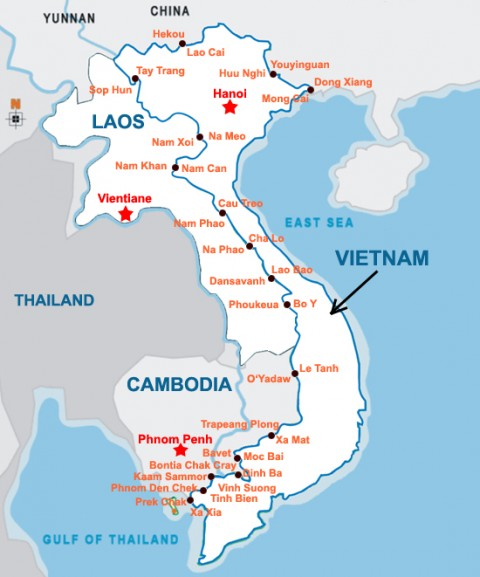 Puestos fronterizos de Vietnam