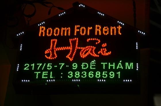 Alquiler de habitaciones en Ho Chi Minh