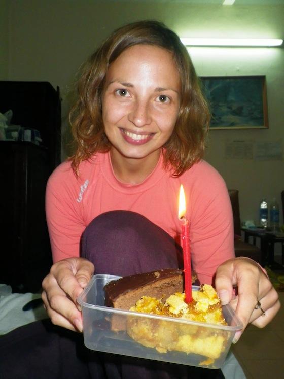 Celebrando el cumpleaños de Ilze en Dalat