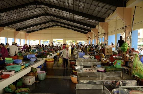 Mercado del pescado en Ha Tien