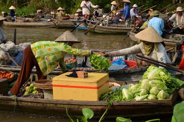 Mercados flotantes y el delta del Mekong