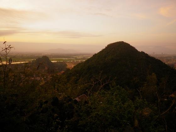 Vistas desde las montañas de marmol