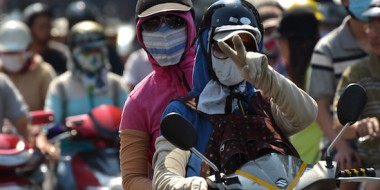 Paz en el infernal tráfico de motos de Saigon