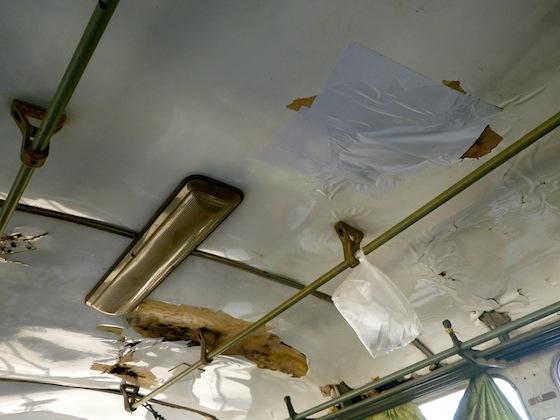 El techo del autobús estaba en perfecto estado