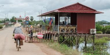 Puesto fronterizo en el lado Camboyano