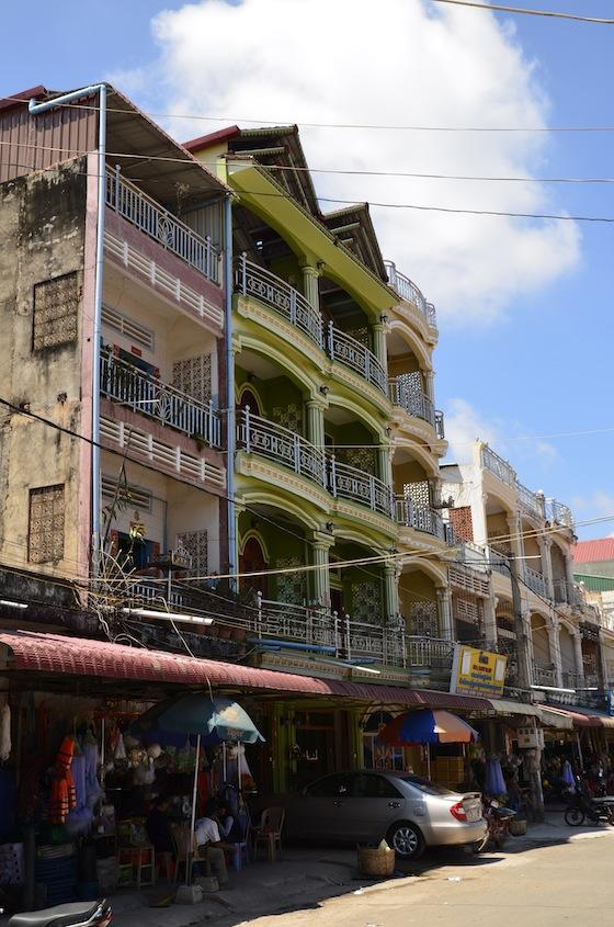 Edificios coloniales franceses en Kampot, Camboya