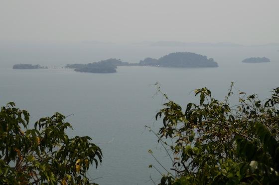 Vistas desde la cima de Rabbit Island