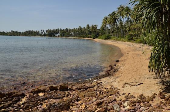 Otra de las playas en Rabbit Island