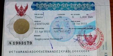 Visado de turista para Tailandia