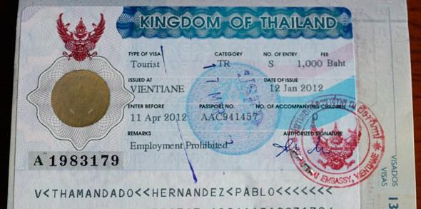 Preparando el pasaporte: Visado para Tailandia