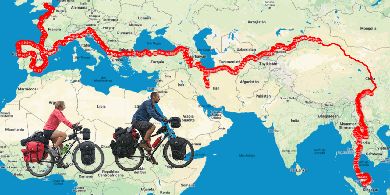 Mapa De Nuestra Vuelta Al Mundo En Bicicleta