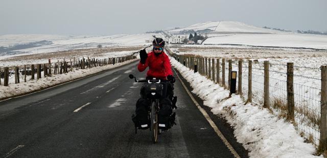 Pedaleando en el invierno inglés
