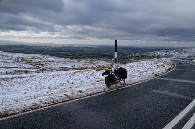 Viaje en bicicleta en invierno por el centro de Inglaterra