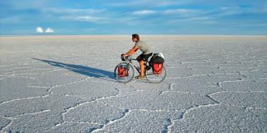 Salar de Uyuni en bicicleta, Bolivia