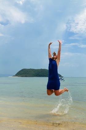En el mar en Ko Pha Ngan