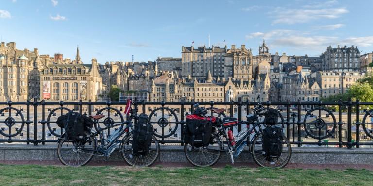 Viajando por Escocia en bicicleta