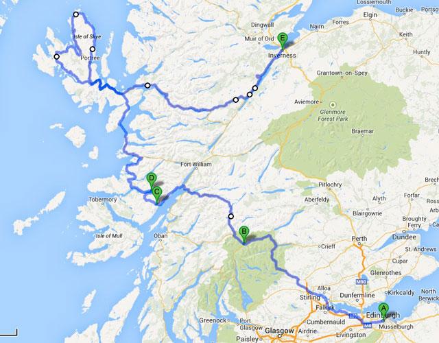 Ruta por Escocia en bicicleta