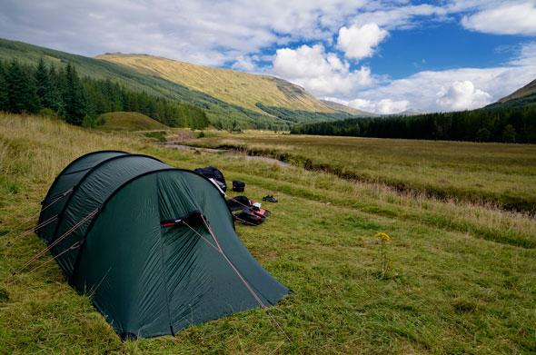 Wild camping en tierras escocesas