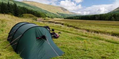 Acampada libre en Escocia