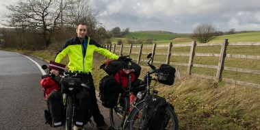 Dejando atrás Inglaterra en bicicleta