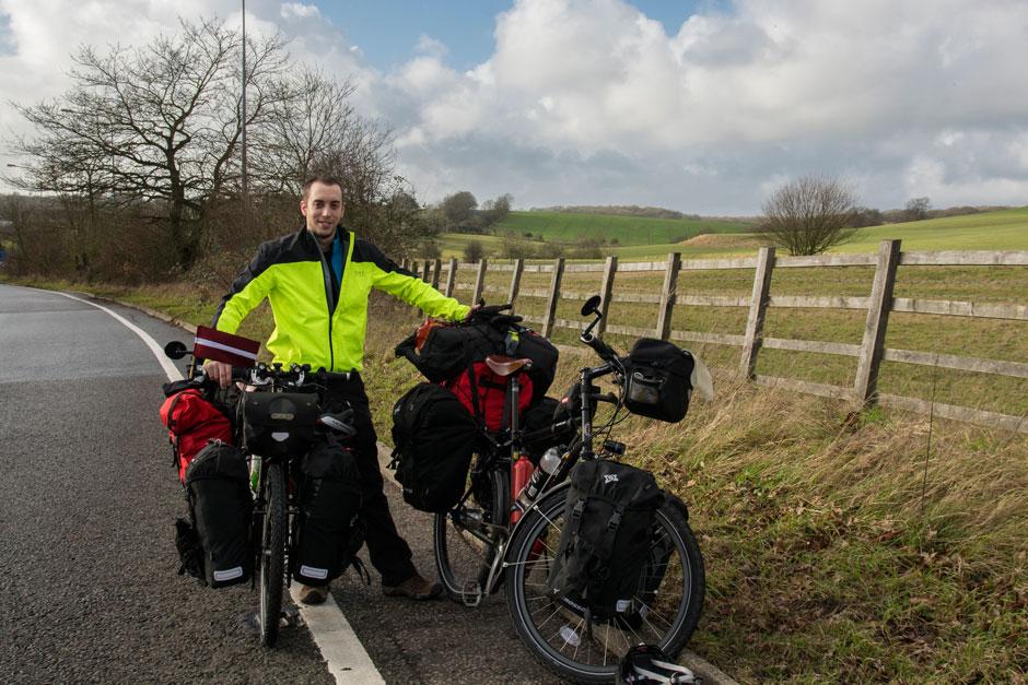 Salida de Inglaterra en bicicleta