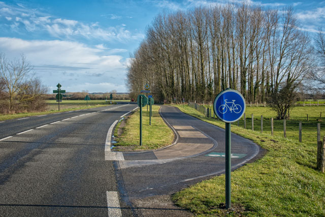 Carril bici en Francia
