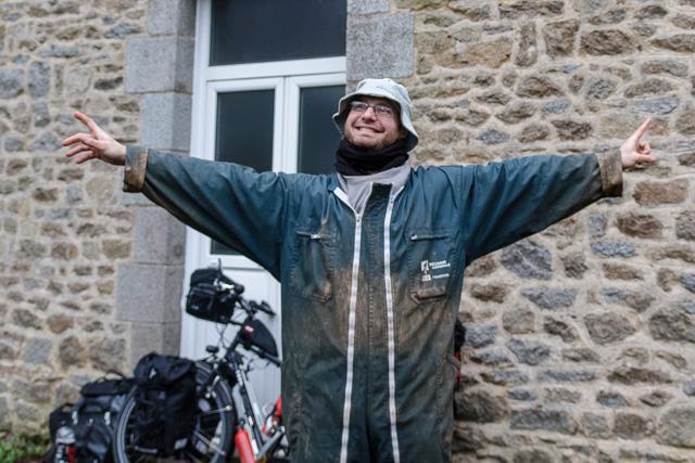 Samuel, host de Warmshowers en la Bretaña Francesa
