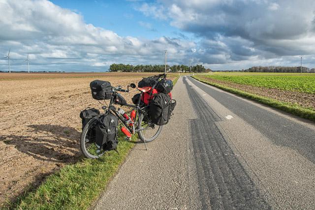 Viajando en bicicleta durante las vacaciones