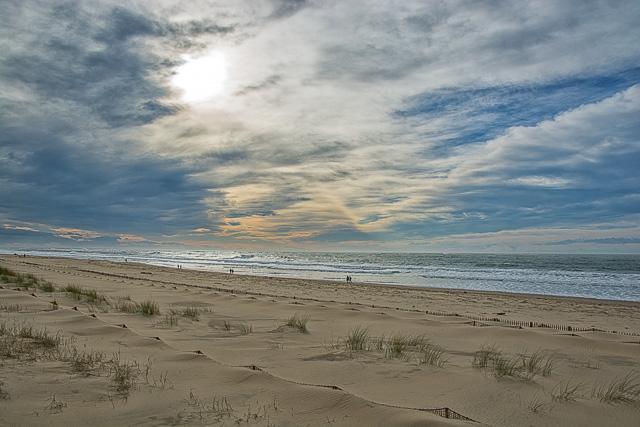 Caminando por la playa de las Landas