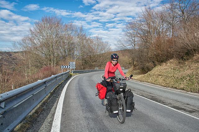 Subiendo las montañas en bicicleta