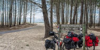 Las dunas francesas en bicicleta, en las Landas