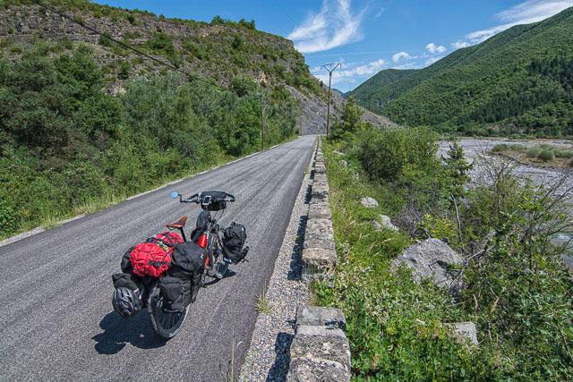 El comienzo de los Alpes en bicicleta