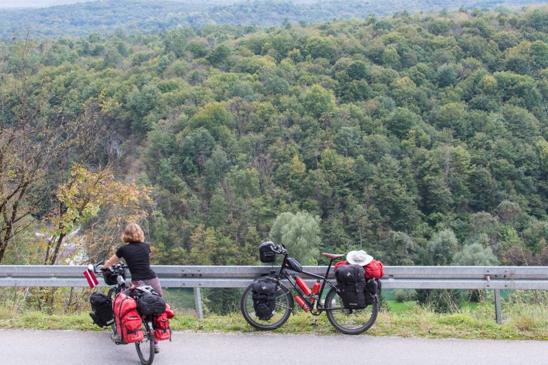 Cycling through Croatian forests