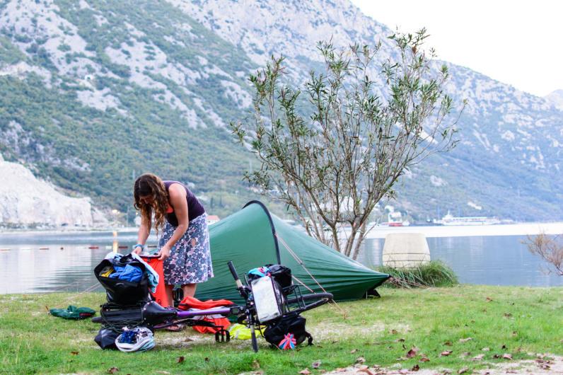 Tienda de campaña para una persona de Hiilleberg, en Montenegro