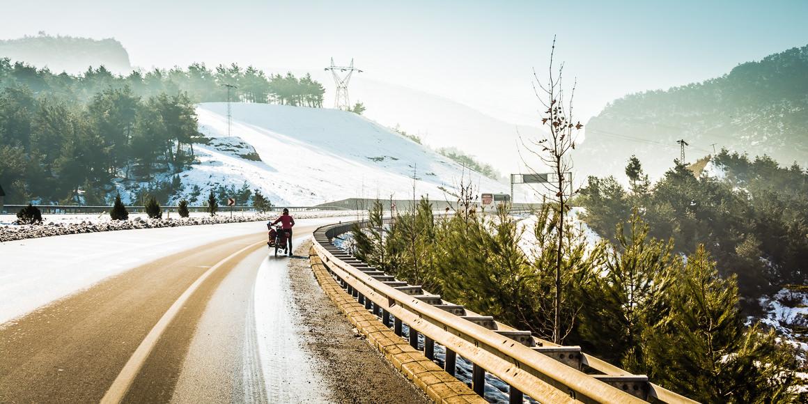 Cicloturismo en invierno en Turquía